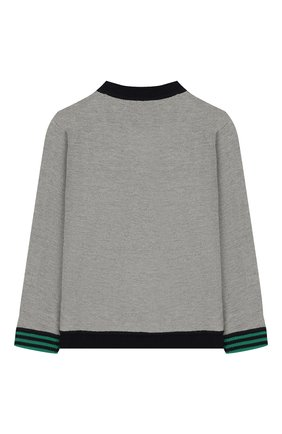Детский шерстяной пуловер BURBERRY темно-синего цвета, арт. 8022112 | Фото 2