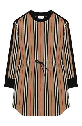Детское хлопковое платье BURBERRY разноцветного цвета, арт. 8022054 | Фото 1