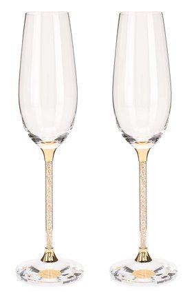 Мужского бокалы для шампанского crys SWAROVSKI прозрачного цвета, арт. 5102143 | Фото 1