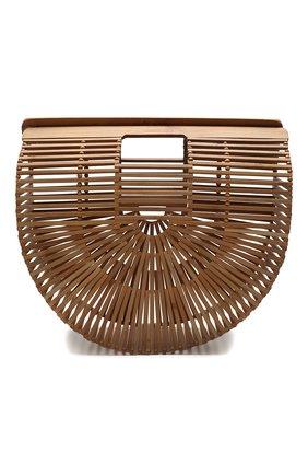 Женская сумка ark large CULT GAIA коричневого цвета, арт. 20019WD CHN   Фото 1 (Сумки-технические: Сумки top-handle; Материал: Растительное волокно; Размер: large)