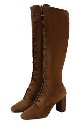 Женские замшевые сапоги laura SAINT LAURENT коричневого цвета, арт. 612272/0LI00 | Фото 1