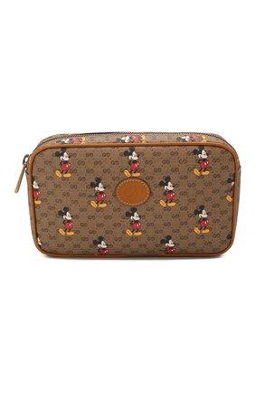 Женская поясная сумка disney x gucci GUCCI коричневого цвета, арт. 602695/HWUBM | Фото 1