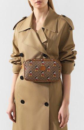 Женская поясная сумка disney x gucci GUCCI коричневого цвета, арт. 602695/HWUBM | Фото 2