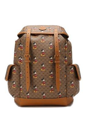 Мужской рюкзак disney x gucci GUCCI коричневого цвета, арт. 603898/HWUDM | Фото 1