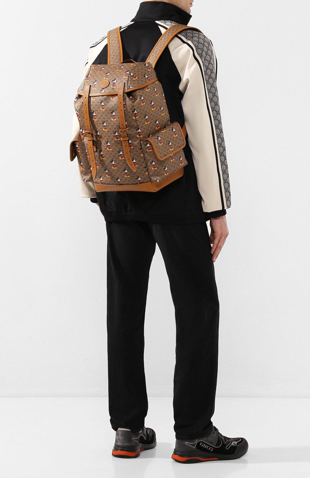 Мужской рюкзак disney x gucci GUCCI коричневого цвета, арт. 603898/HWUDM   Фото 2