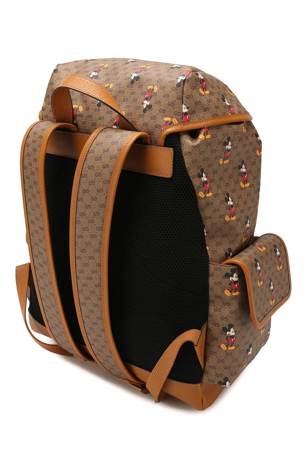 Мужской рюкзак disney x gucci GUCCI коричневого цвета, арт. 603898/HWUDM   Фото 3