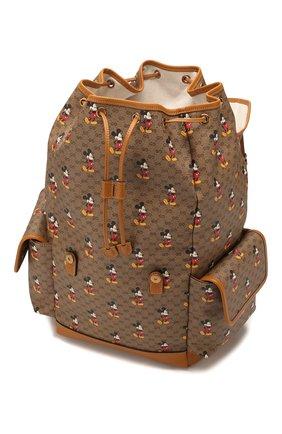 Мужской рюкзак disney x gucci GUCCI коричневого цвета, арт. 603898/HWUDM   Фото 4