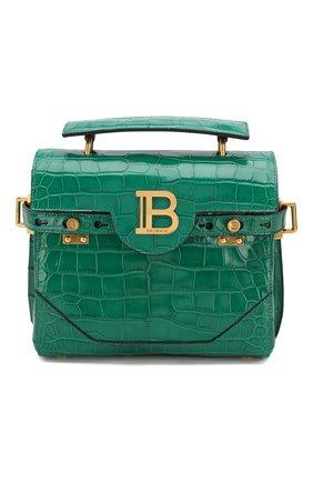 Женская сумка bbuzz 23 из кожи аллигатора BALMAIN зеленого цвета, арт. TN1S407/LALR/AMIS | Фото 1
