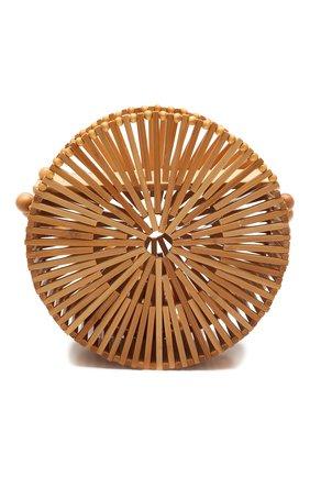 Женская сумка luna CULT GAIA светло-коричневого цвета, арт. 23001WD TAN   Фото 1 (Ремень/цепочка: На ремешке; Размер: mini; Сумки-технические: Сумки через плечо; Материал: Растительное волокно)