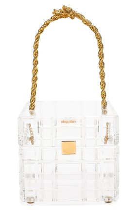 Женская сумка phaedra CULT GAIA прозрачного цвета, арт. 20127AC CLR   Фото 1 (Материал: Экокожа; Размер: mini; Сумки-технические: Сумки top-handle)