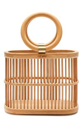 Женская сумка coco mini CULT GAIA светло-коричневого цвета, арт. 20117WD TAN   Фото 1 (Размер: mini; Сумки-технические: Сумки top-handle; Материал: Растительное волокно)