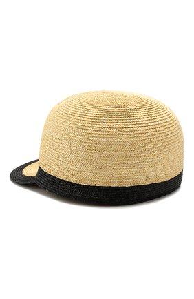 Женская соломенная кепка INVERNI бежевого цвета, арт. 4854CCG5 | Фото 2