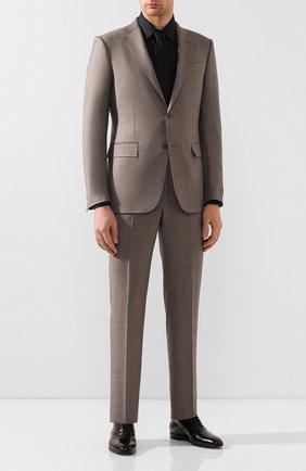Мужские кожаные оксфорды BURBERRY черного цвета, арт. 8023875 | Фото 2 (Материал внутренний: Текстиль, Натуральная кожа; Стили: Классический)