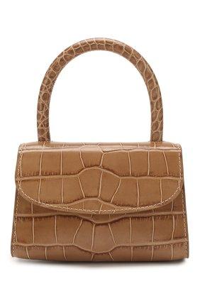 Женская сумка mini BY FAR темно-бежевого цвета, арт. 19PFMINATPDSMA | Фото 1