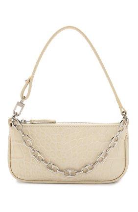 Женская сумка rachel mini BY FAR кремвого цвета, арт. 20CRMIRACEDSMA | Фото 1 (Материал: Натуральная кожа; Размер: mini; Сумки-технические: Сумки top-handle)