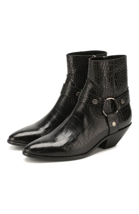 Женские кожаные ботинки west SAINT LAURENT черного цвета, арт. 606222/06A00 | Фото 1