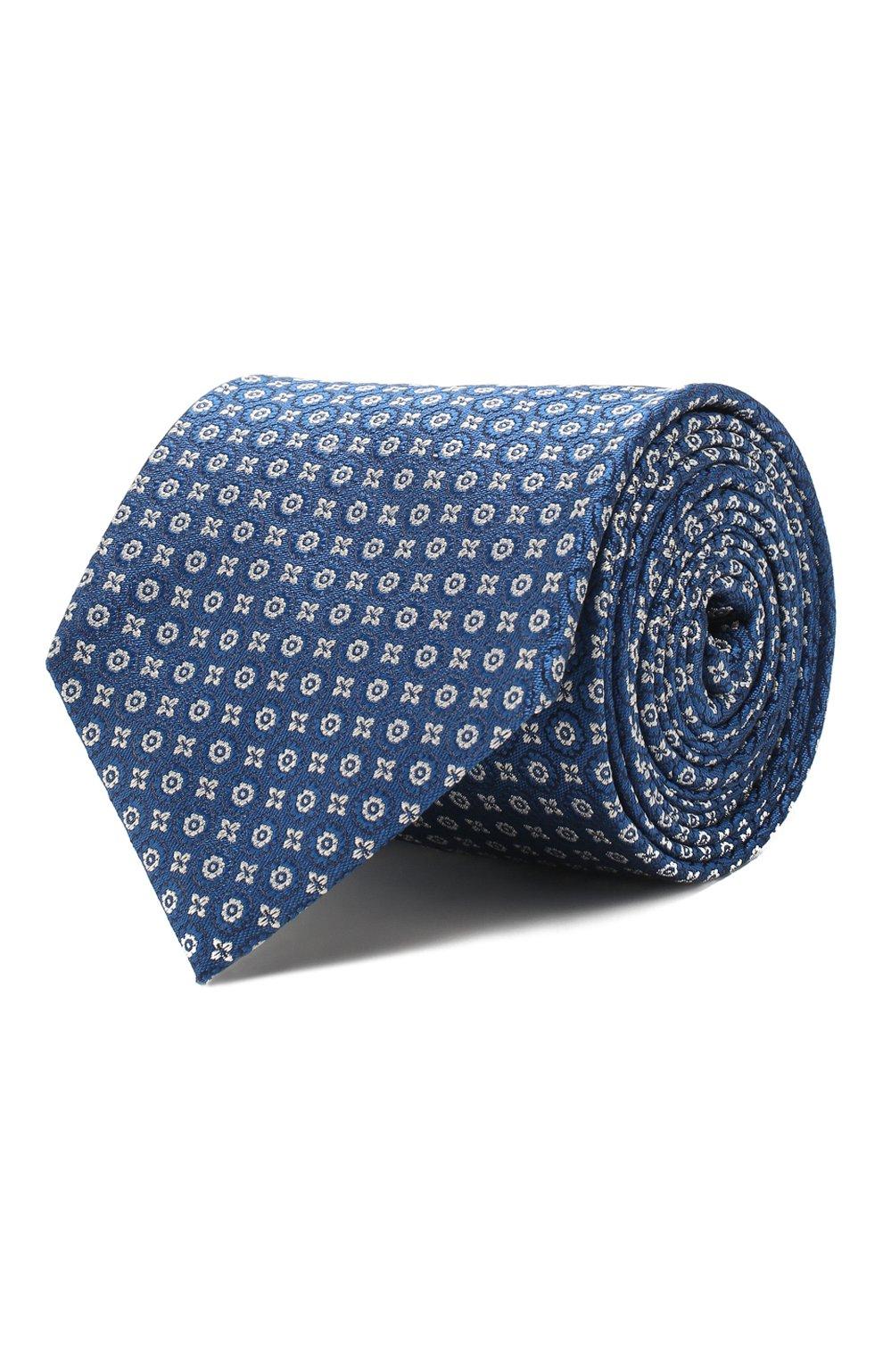 Мужской шелковый галстук VAN LAACK синего цвета, арт. LUIS-EL/K04079   Фото 1