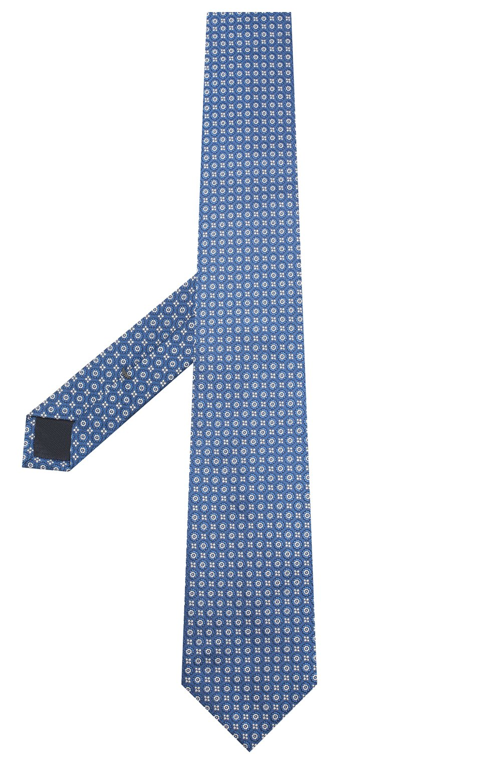 Мужской шелковый галстук VAN LAACK синего цвета, арт. LUIS-EL/K04079   Фото 2