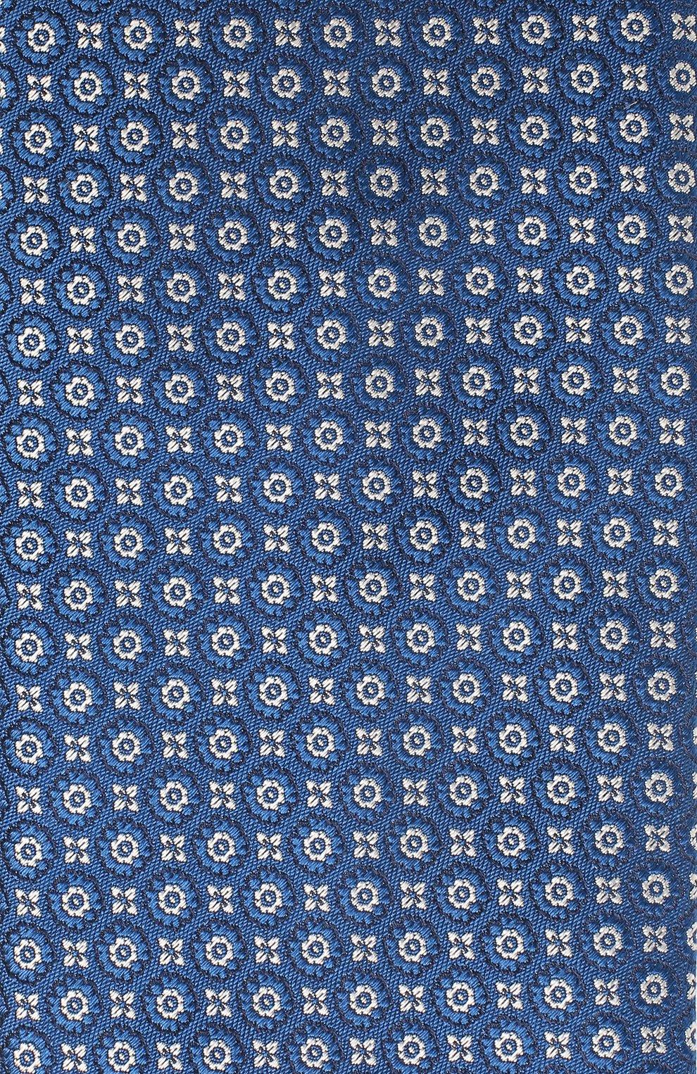 Мужской шелковый галстук VAN LAACK синего цвета, арт. LUIS-EL/K04079   Фото 3