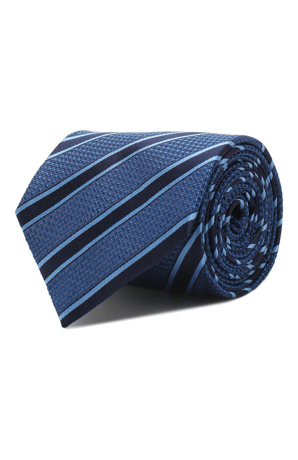 Мужской шелковый галстук VAN LAACK синего цвета, арт. LUIS-EL/K04069 | Фото 1