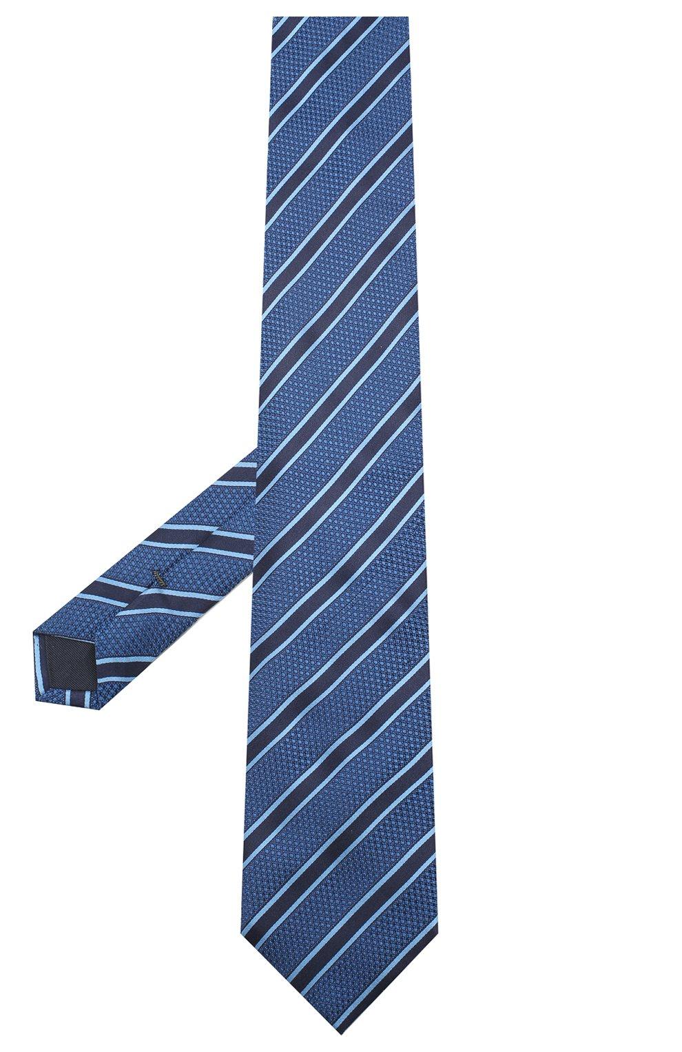 Мужской шелковый галстук VAN LAACK синего цвета, арт. LUIS-EL/K04069 | Фото 2