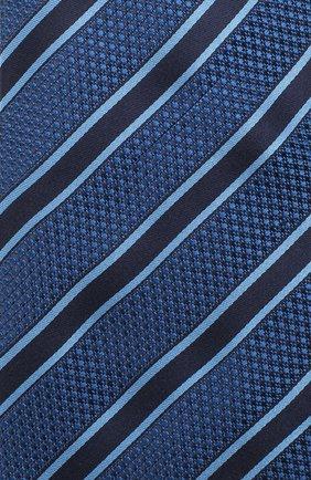 Мужской шелковый галстук VAN LAACK синего цвета, арт. LUIS-EL/K04069 | Фото 3