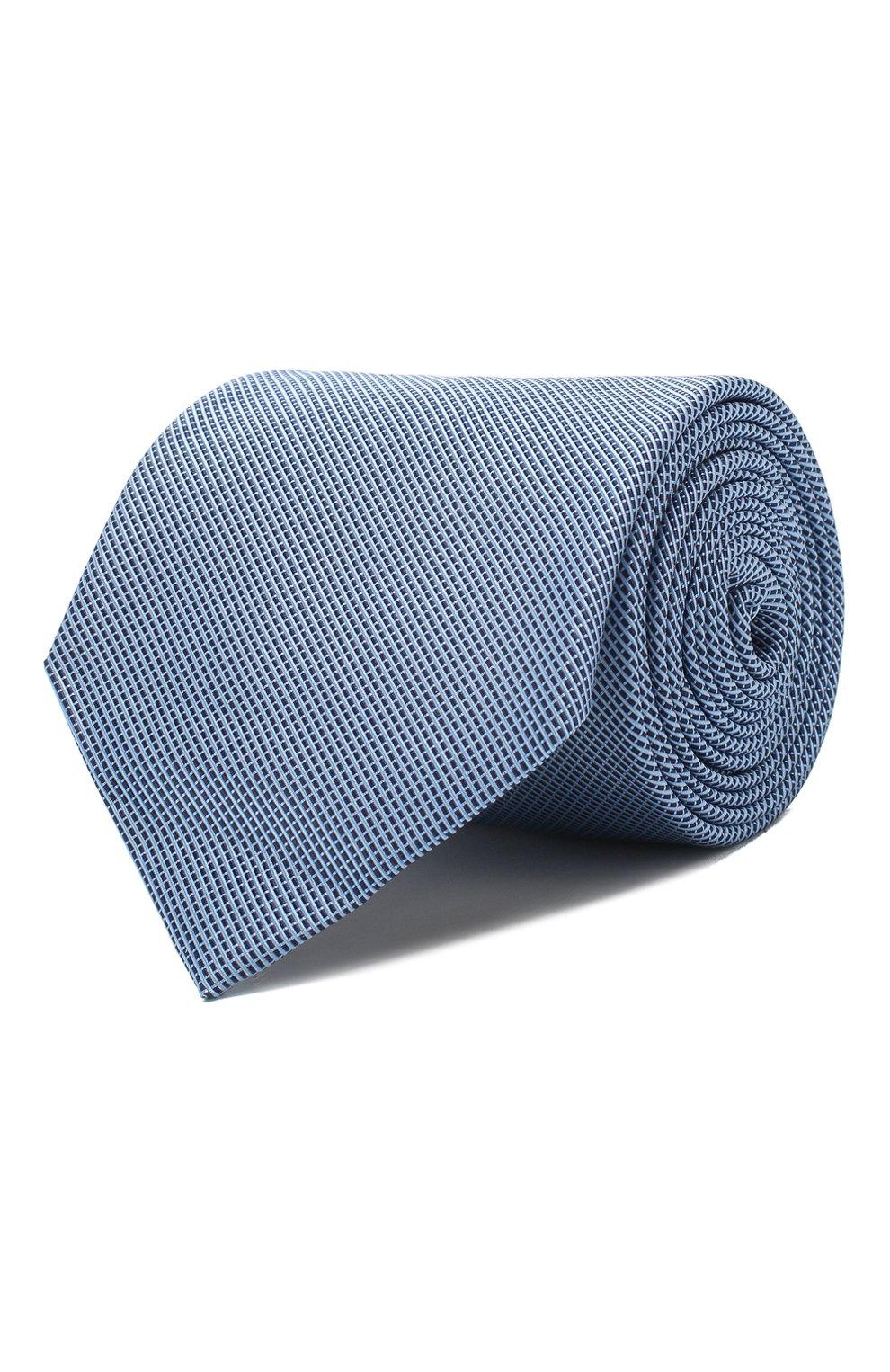 Мужской галстук из смеси шелка и хлопка VAN LAACK голубого цвета, арт. LUIS-EL/K04063 | Фото 1
