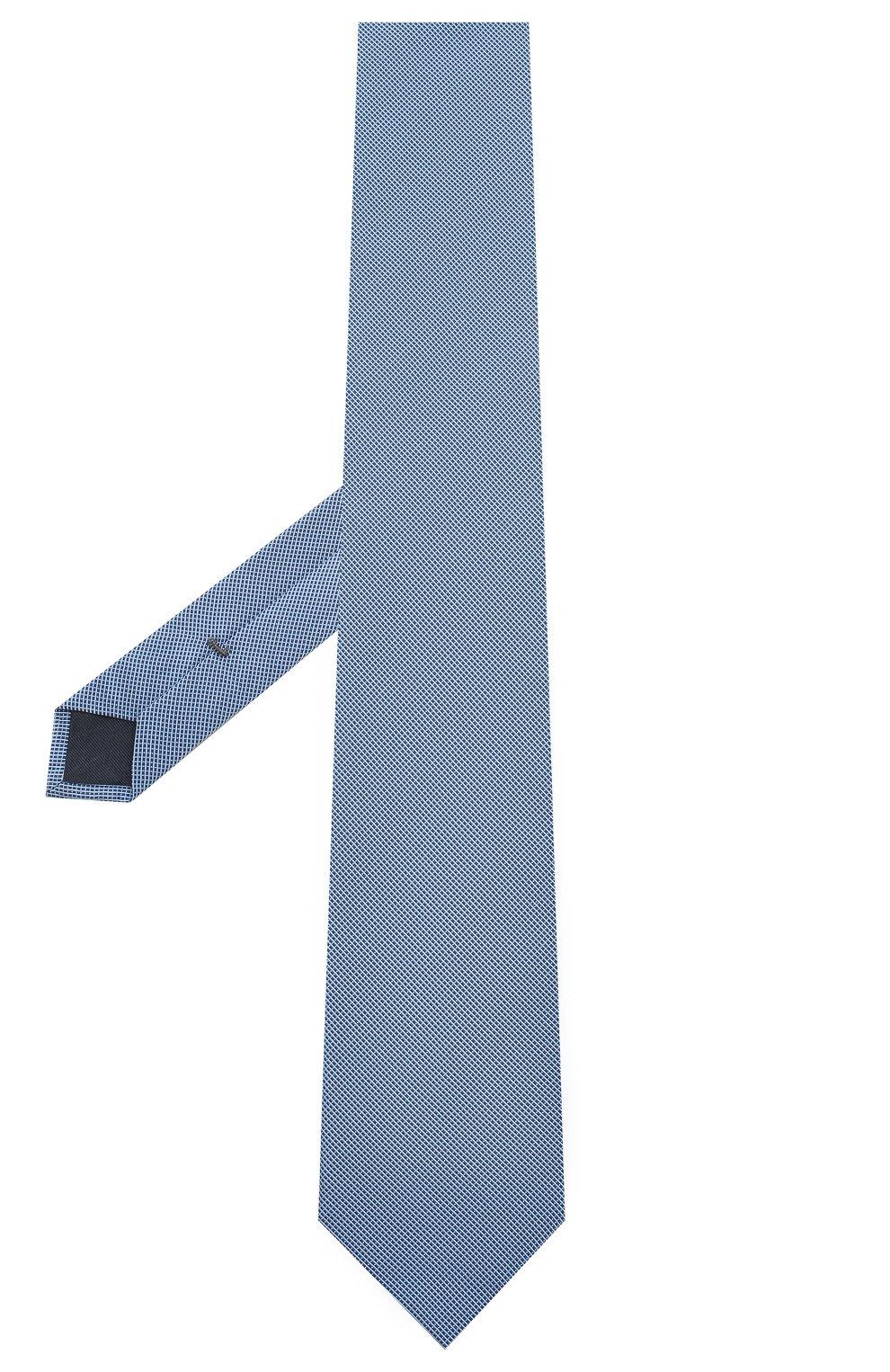Мужской галстук из смеси шелка и хлопка VAN LAACK голубого цвета, арт. LUIS-EL/K04063 | Фото 2