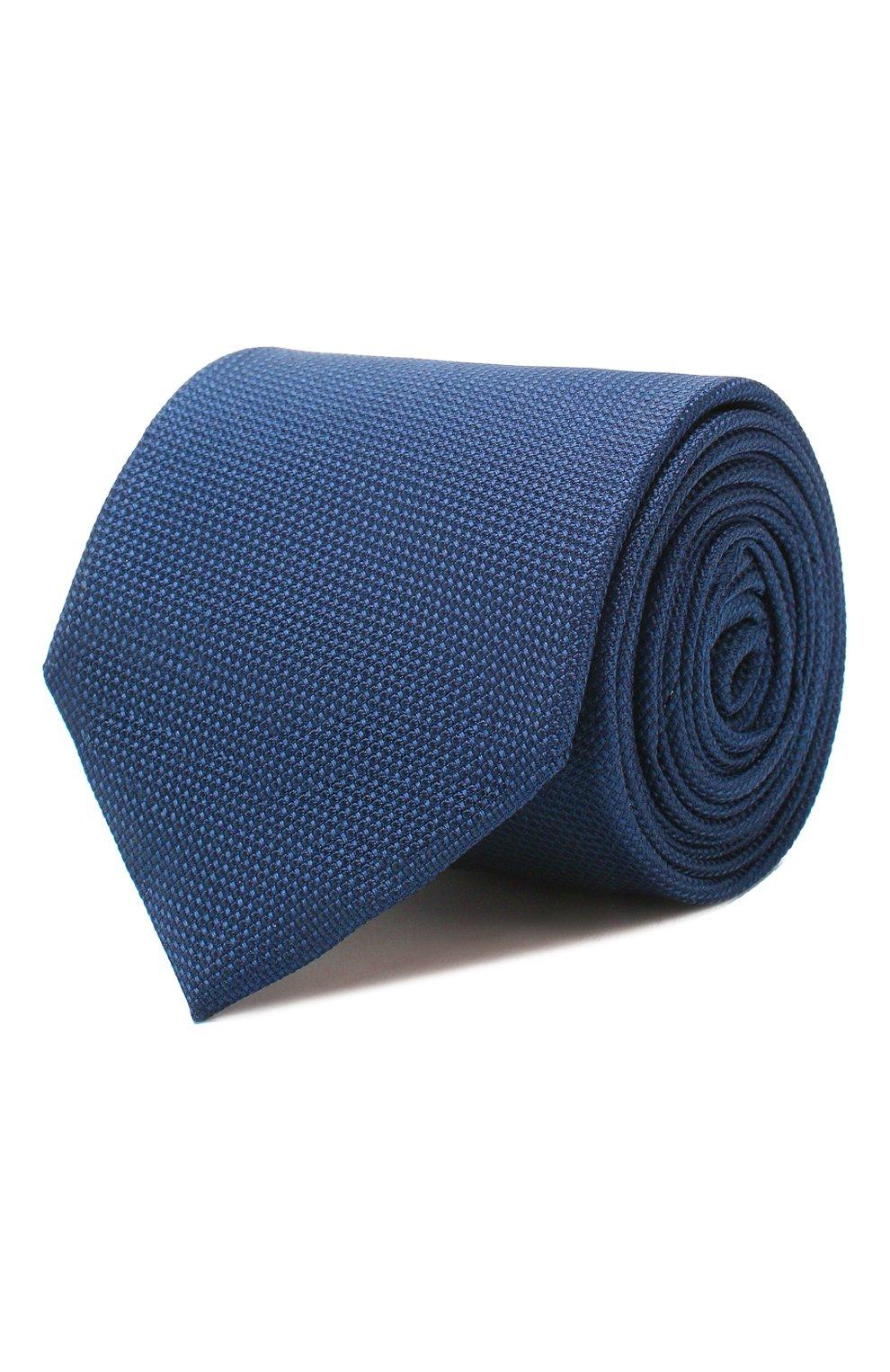 Мужской шелковый галстук VAN LAACK синего цвета, арт. LUIS-EL/K04061 | Фото 1
