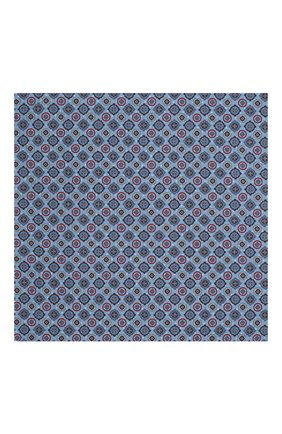 Мужской платок из смеси шелка и хлопка VAN LAACK синего цвета, арт. LE0N/Z10278 | Фото 3