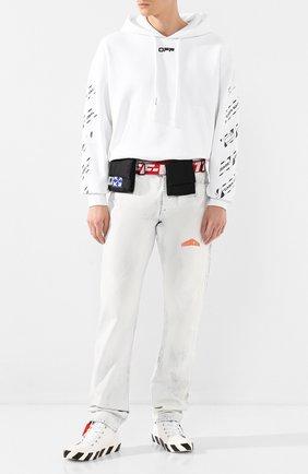 Мужские текстильные кеды OFF-WHITE белого цвета, арт. 0MIA119S20D330380110 | Фото 2