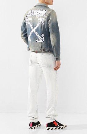 Мужские текстильные кеды OFF-WHITE черного цвета, арт. 0MIA119S20D330381001 | Фото 2