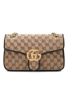 Женская сумка gg marmont small GUCCI черного цвета, арт. 443497/HVKEG | Фото 1