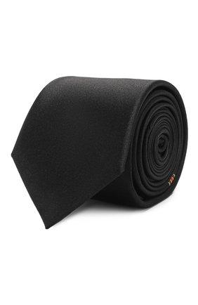 Мужской шелковый галстук GUCCI черного цвета, арт. 621511/4E009 | Фото 1