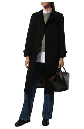 Женские кожаные кеды andy SAINT LAURENT черного цвета, арт. 606831/0ZS00 | Фото 2