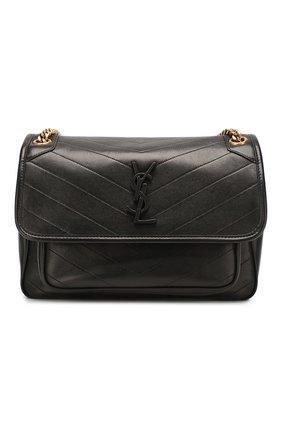 Женская сумка niki medium SAINT LAURENT черного цвета, арт. 498894/1EL07 | Фото 1