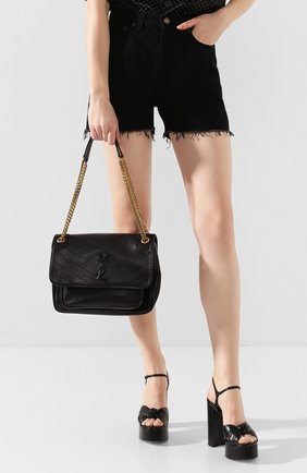 Женская сумка niki medium SAINT LAURENT черного цвета, арт. 498894/1EL07 | Фото 2