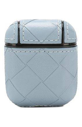 Мужской чехол для airpods BOTTEGA VENETA голубого цвета, арт. 612042/VCPP0 | Фото 1