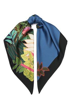Женский шелковый платок valentino garavani VALENTINO синего цвета, арт. TW0EI114/ZDI   Фото 1