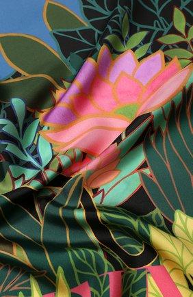 Женский шелковый платок valentino garavani VALENTINO синего цвета, арт. TW0EI114/ZDI   Фото 2