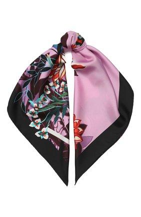 Женский шелковый платок valentino garavani VALENTINO розового цвета, арт. TW0EI114/GCI | Фото 1