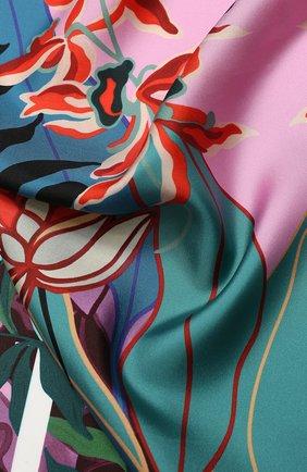 Женский шелковый платок valentino garavani VALENTINO розового цвета, арт. TW0EI114/GCI | Фото 2