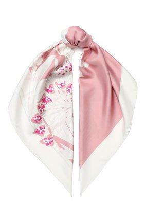 Женский шелковый платок valentino garavani VALENTINO розового цвета, арт. TW0EI114/BES | Фото 1