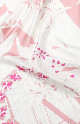 Женский шелковый платок valentino garavani VALENTINO розового цвета, арт. TW0EI114/BES | Фото 2