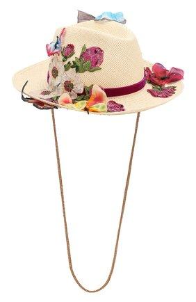 Женская соломенная шляпа DOLCE & GABBANA бежевого цвета, арт. FH499Z/GDU30   Фото 1