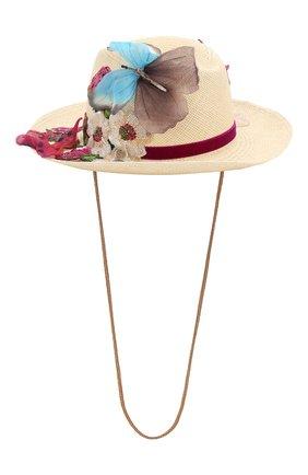 Женская соломенная шляпа DOLCE & GABBANA бежевого цвета, арт. FH499Z/GDU30   Фото 2