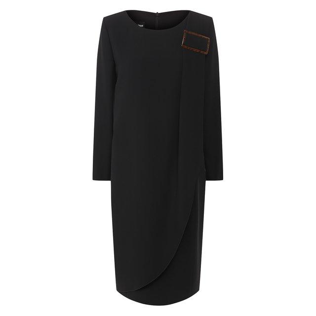 Платье из смеси вискозы и шелка Giorgio Armani