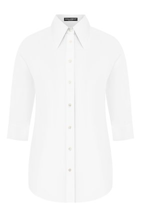 Женская хлопковая рубашка DOLCE & GABBANA белого цвета, арт. F5M45T/FU5K9 | Фото 1