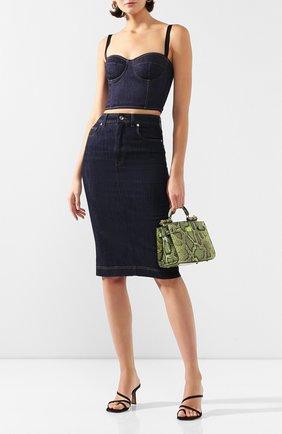 Женская джинсовый топ DOLCE & GABBANA темно-синего цвета, арт. F73H5D/G898Z | Фото 2