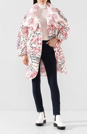 Женское двустороннее пальто STELLA MCCARTNEY белого цвета, арт. 594985/S0A22 | Фото 2